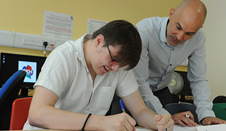 Young person in a training course at Westwood Hub