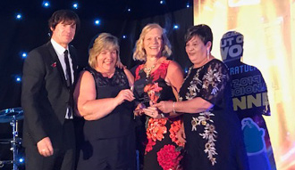 Our care team receiving their award