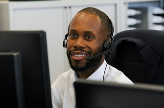 Customer service assistant wearing headset - card.jpg